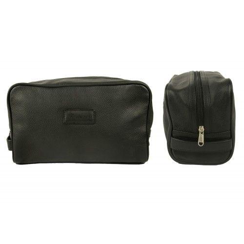Neceser - bolsa de aseo de piel con cierre de cremallera Zerimar - 2