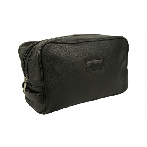 Neceser - bolsa de aseo de piel con cierre de cremallera Zerimar - 1