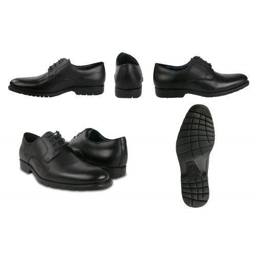Zapato negro cómodo básico de vestir con cordones Zerimar - 2