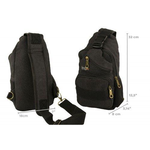 Bolsa de hombro táctica con multibolsillos 32x18x8cm Airel - 5