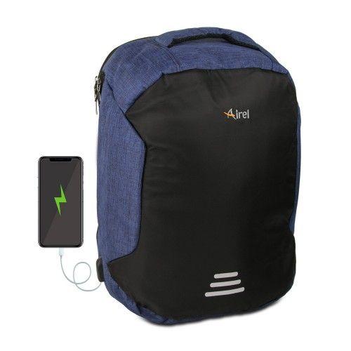 Mochila con cargador portátil para teléfono móvil 45x36x18 cm Airel - 2
