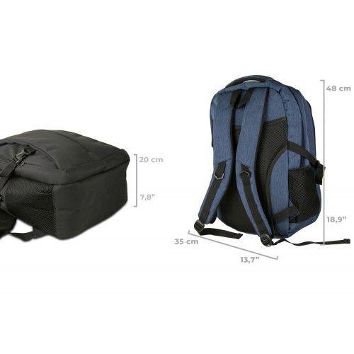 Mochila deportiva de tela con multibolsillos 48x35x20 cm Airel - 2