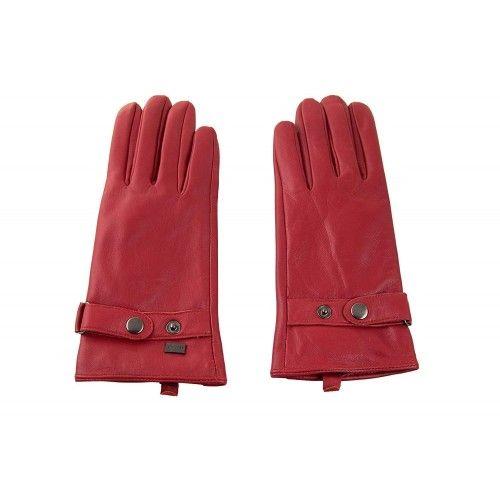 Guantes invernales de piel para mujer ajuntable con trabilla y boton Zerimar - 1