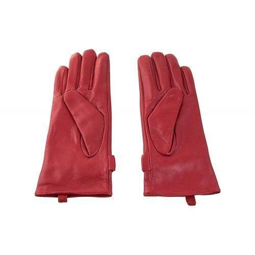 Guantes invernales de piel para mujer ajuntable con trabilla y boton Zerimar - 2