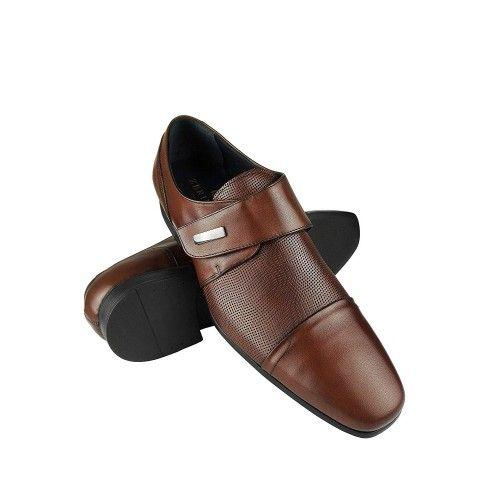 Zapatos de piel de vestir de hombre color cuero Zerimar - 1