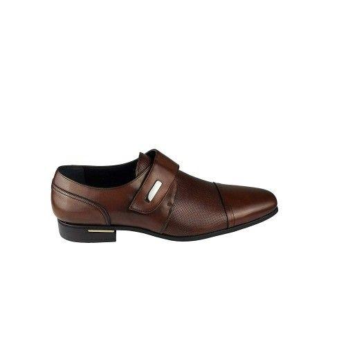 Zapatos de piel de vestir de hombre color cuero Zerimar - 2