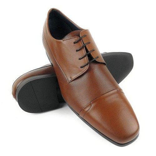 Zapatos de hombre de piel elegantes de hombre color cuero Zerimar - 1