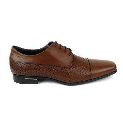 Zapatos de hombre de piel elegantes de hombre color cuero Zerimar - 2