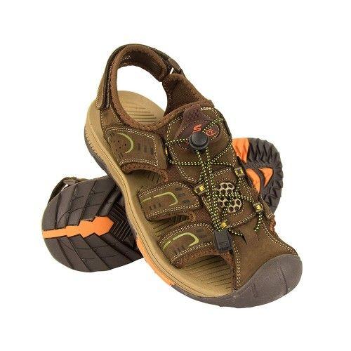 Sandalias cangrejeras en piel de trekking o senderismo Zerimar - 1