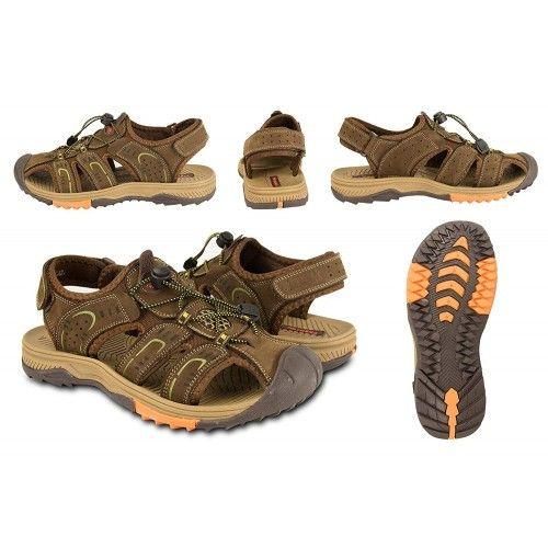 Sandalias cangrejeras en piel de trekking o senderismo Zerimar - 2
