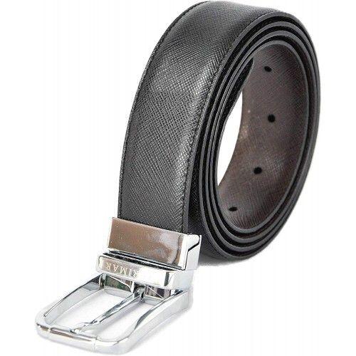 Cinturón reversible de piel estilo elegante 3.5 cm de anchura Zerimar - 6