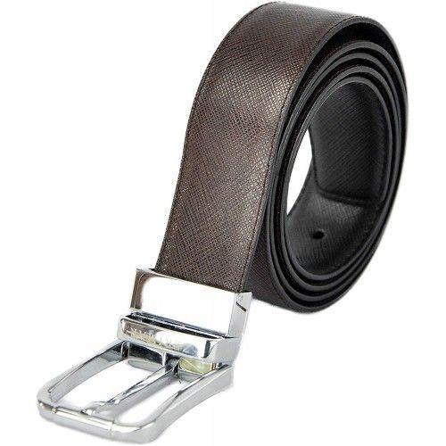 Cinturón reversible de piel estilo elegante 3.5 cm de anchura Zerimar - 7
