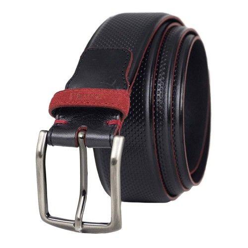 Cinturon de piel natural con hebilla de 3,5 cm de ancho Zerimar - 1