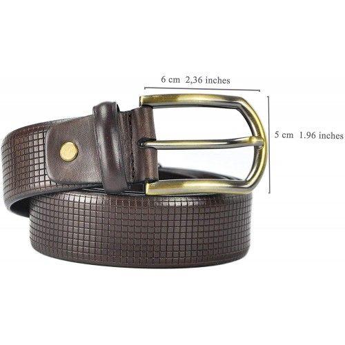 Cinturón de piel elegante 4 cm de ancho Zerimar - 2