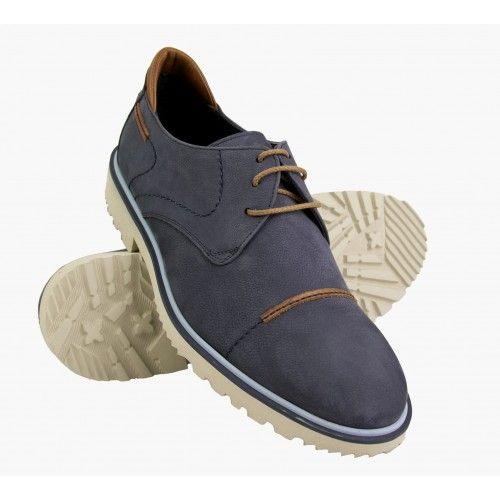 Zapato de verano de piel nobuck con cordones Zerimar - 1