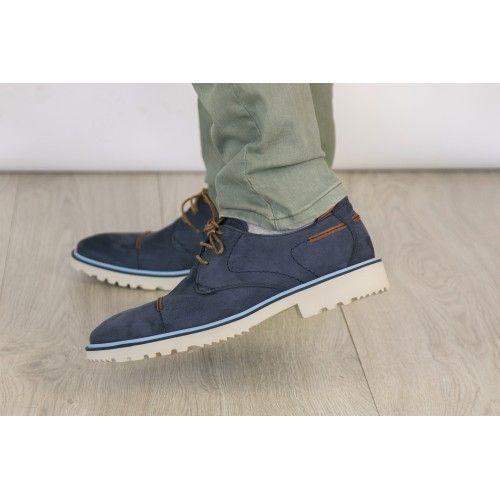 Zapato de verano de piel nobuck con cordones Zerimar - 2