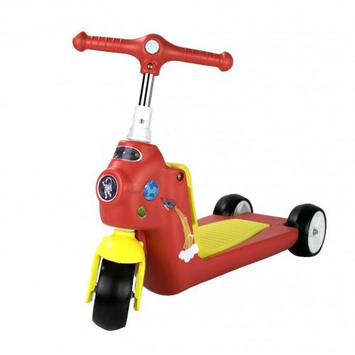 Patinete y bicicleta de equilibrio de 3 ruedas ROCKETS- 2 en 1 Airel - 1
