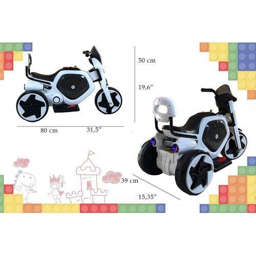 Moto electrica con musica y luz para niños de 1 a 4 años Airel - 2