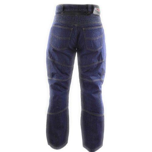 Pantalones tejanos de moto con protecciones color azul marino Kenrod - 2