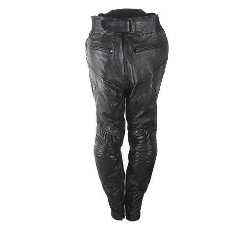 Pantalon de piel con protecciones para moto señora Kenrod - 1