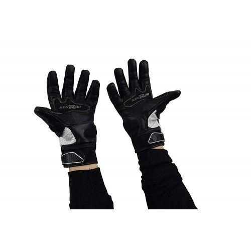 Guantes para moto de piel y tejido con protecciones Kenrod - 2