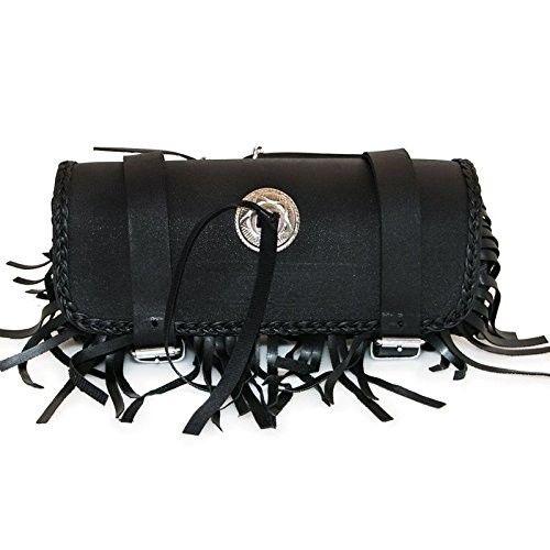 Rulo portaherramientas para motocicletas de cuero color negro Kenrod - 1