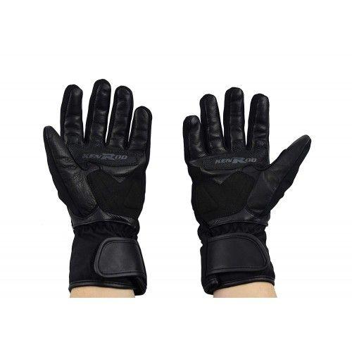 Guantes para motoristas de piel y tejido con protecciones Kenrod - 2