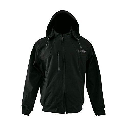 Chaqueta con capucha en neopreno softshell color negro Kenrod - 1