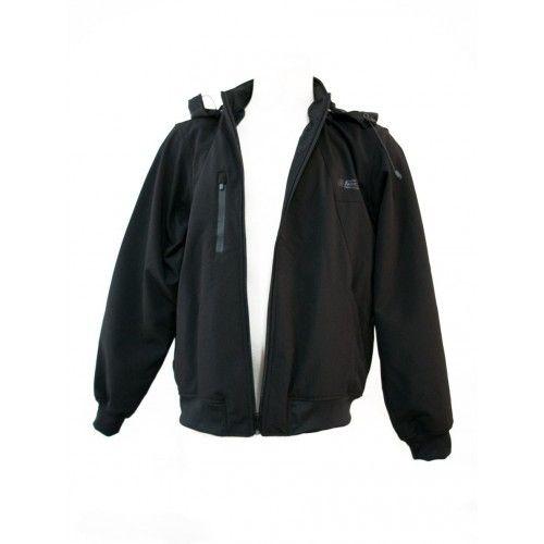 Chaqueta con capucha en neopreno softshell color negro Kenrod - 2