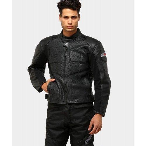 Chaqueta de moto de piel con protecciones Kenrod - 1