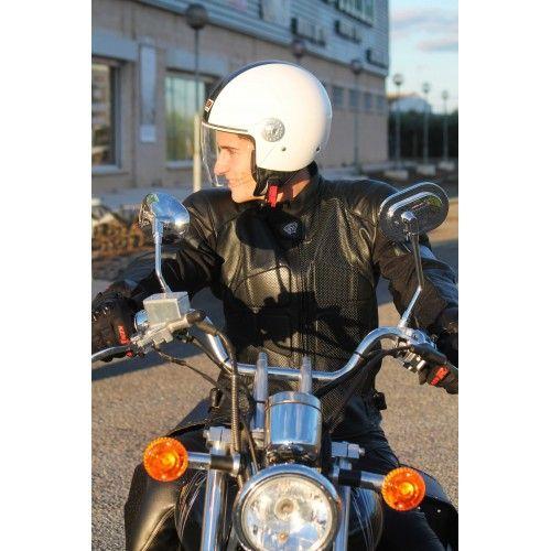 Chaqueta de moto de piel con protecciones Kenrod - 2