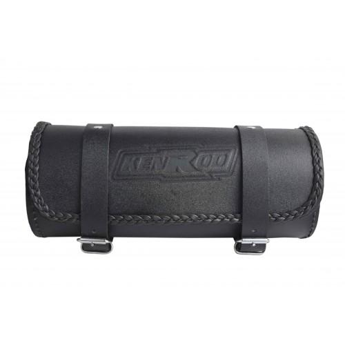 Rulo portaherramientas para motos de cuero liso con borde trenzado Kenrod - 2