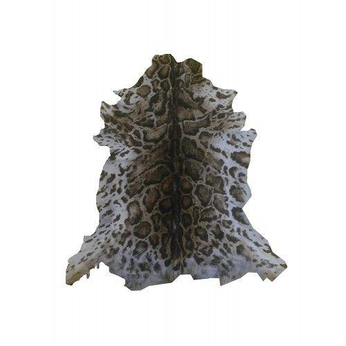 Alfombra piel de cabra natural 100x85 cm imitacion Ocelote Zerimar - 1