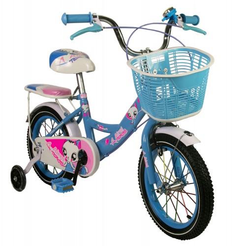 Bicicleta de niña de 14-16-18-20 pulgadas con cesta Airel - 1