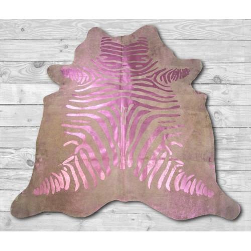 Alfombra de piel de vaca natural CEBRA 215x215 cm Zerimar - 2