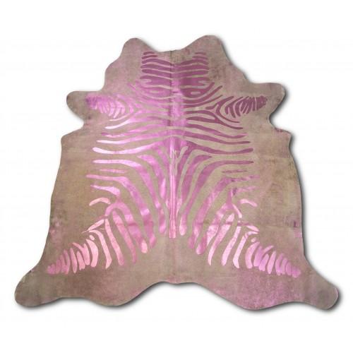 Alfombra de piel de vaca natural CEBRA 215x215 cm Zerimar - 1