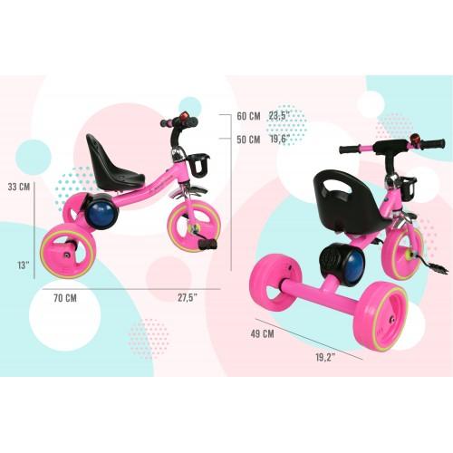 Triciclo con pedales de 2 a 6 años con música y luces Airel - 2