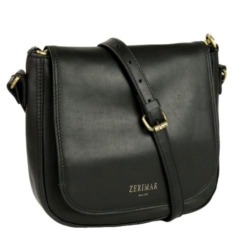 Bolso bandolera de cuero con correa y bolsillo - 2 colores disponibles Zerimar - 1