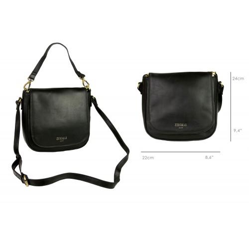 Bolso bandolera de cuero con correa y bolsillo - 2 colores disponibles Zerimar - 2