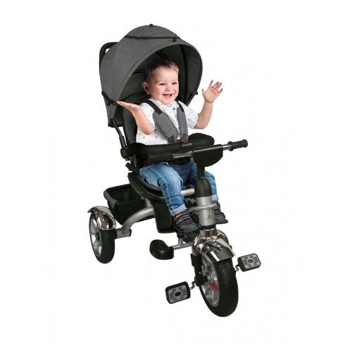 Silla de Paseo de Bebé con 3 Ruedas y capota - Plegable Compacta Airel - 1