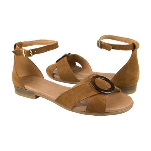 Sandalias de piel atadas al tobillo modelo CERCO Zerimar - 1