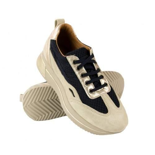 Sneakers de piel combinados con plataforma modelo RAID Zerimar - 1