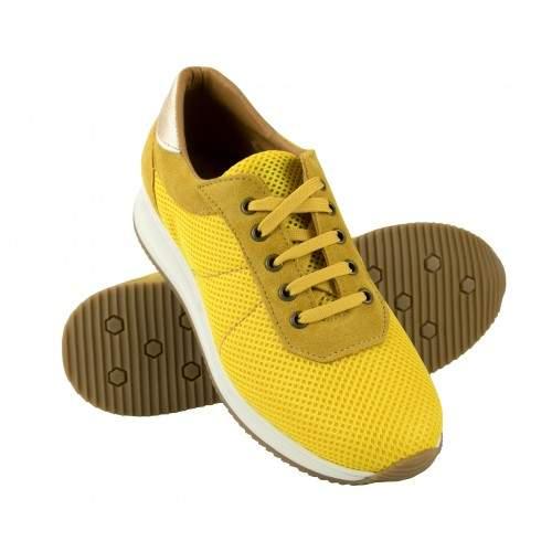 Sneakers de piel combinados con plataforma modelo FLY Zerimar - 1