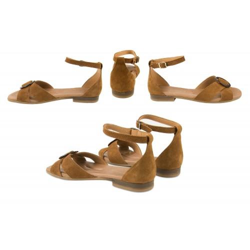 Sandalias de piel atadas al tobillo modelo CERCO Zerimar - 2