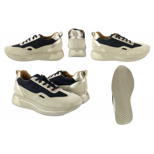 Sneakers de piel combinados con plataforma modelo RAID Zerimar - 2