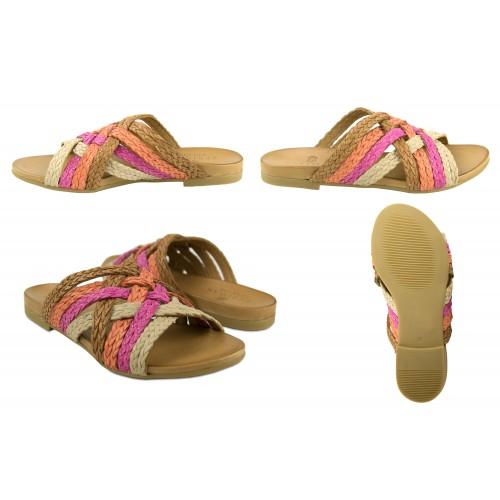 Sandalias trenzadas de piel...