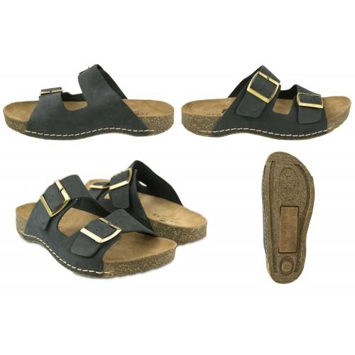 Sandalias de piel con doble...