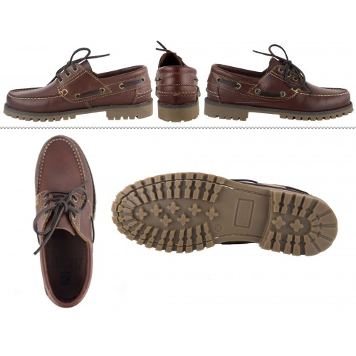 Zapatos náuticos de piel de...