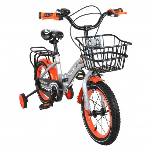 Bicicleta dobrável infantil de 14-18 polegadas com cesta Airel - 1
