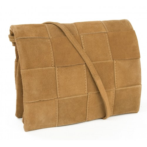 Bolsa de couro de camurça...